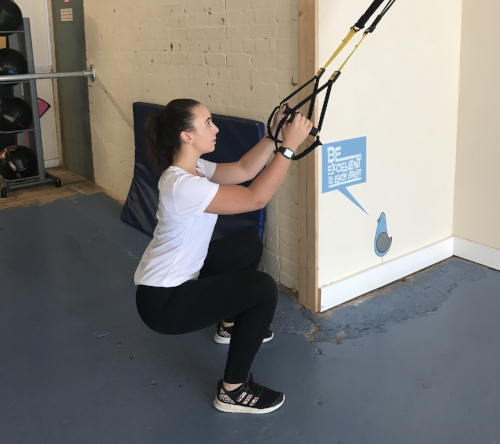 Regression: Use a TRX to improve movement pattern