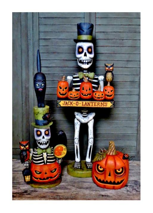 Greg Guedel Halloween skeletons