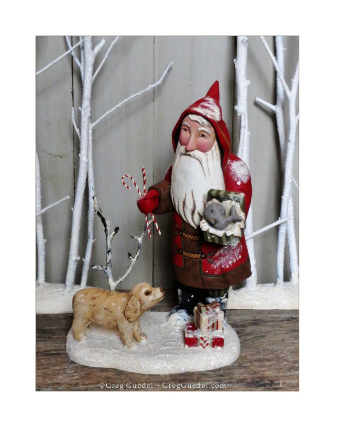 Santa with Kit by Greg Guedel