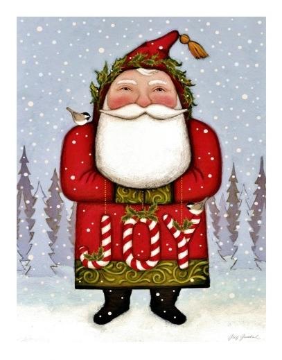 Greg Guedel Joy Santa painting