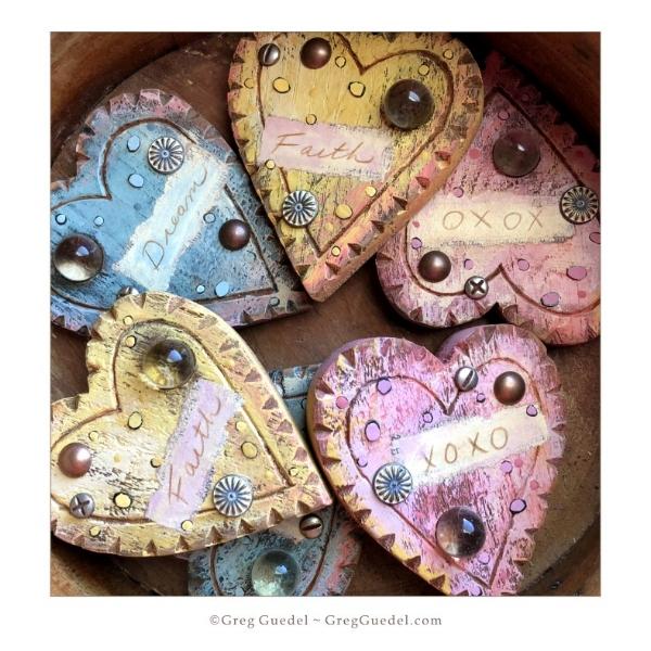 Heart assemblages ~ Greg Guedel.JPG