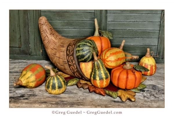 Greg Guedel Thanksgiving cornucopia wood carving.JPG