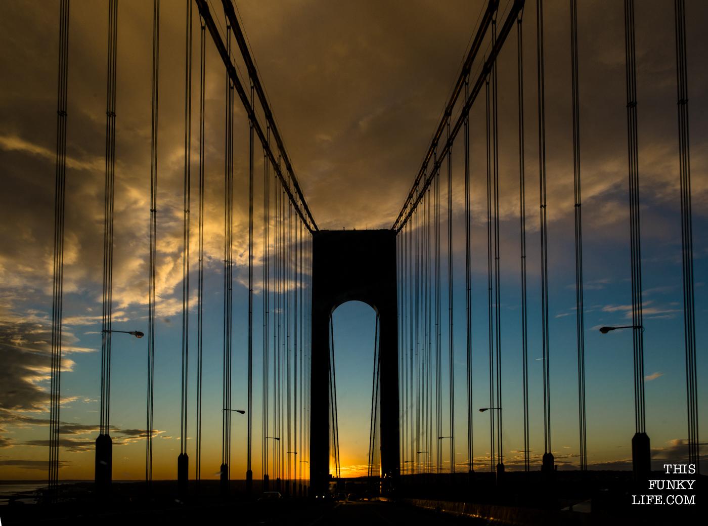 Verrazano Bridge in Sunset