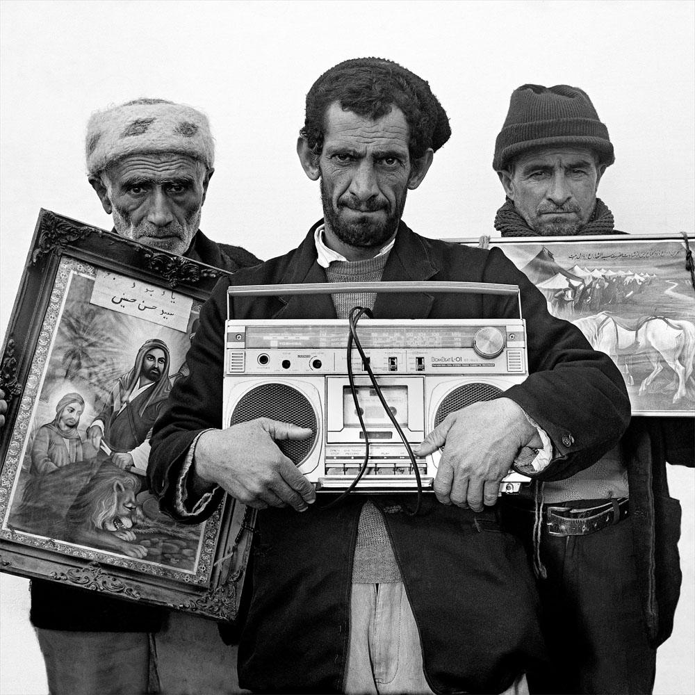 """Gypsies with their prize possessions"" from Mohsen Rastani's portfolio, Iranian Family Portraits"