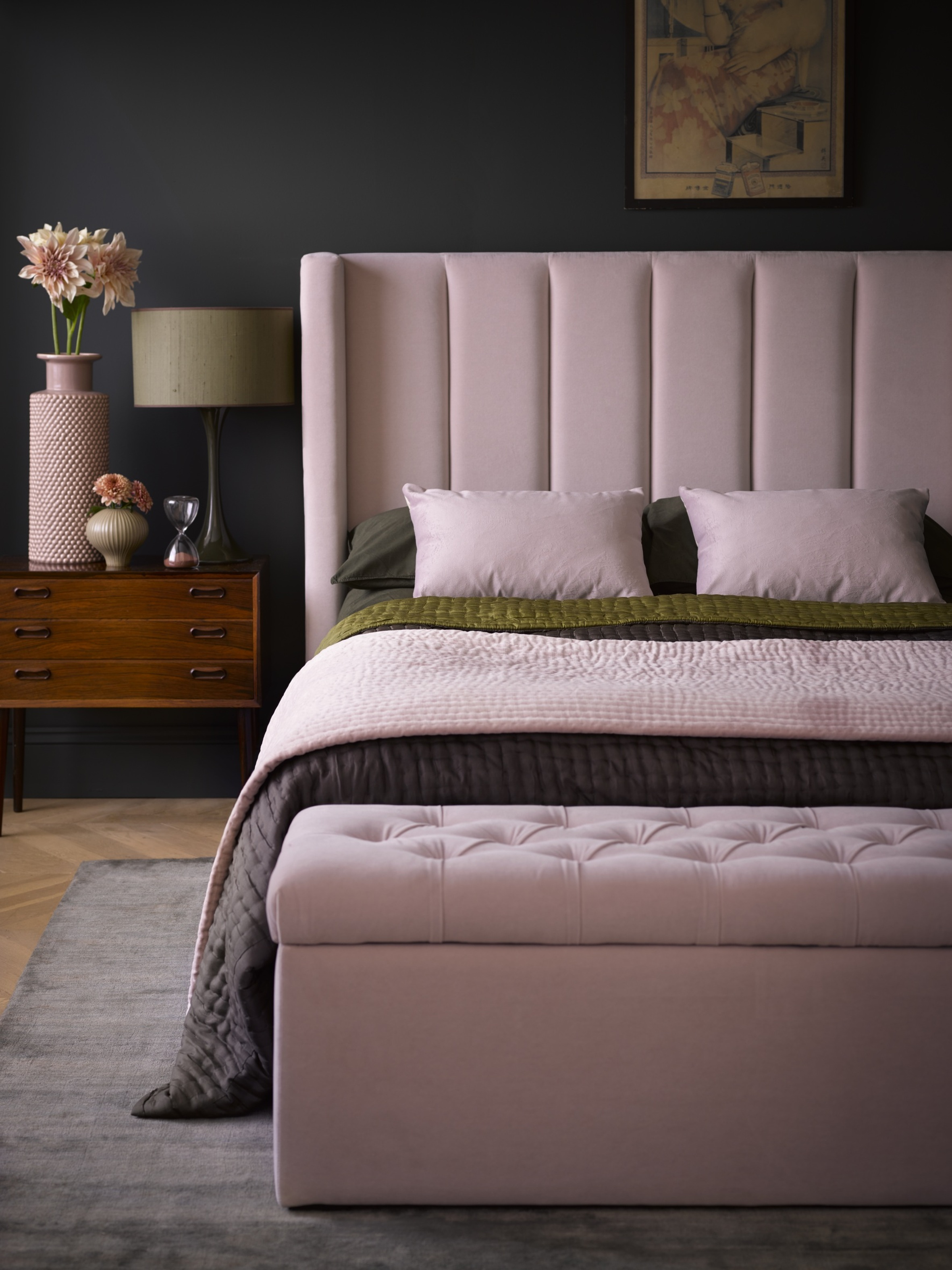 Sofa.com Cleo double bed in Lychee smart velvet.jpg