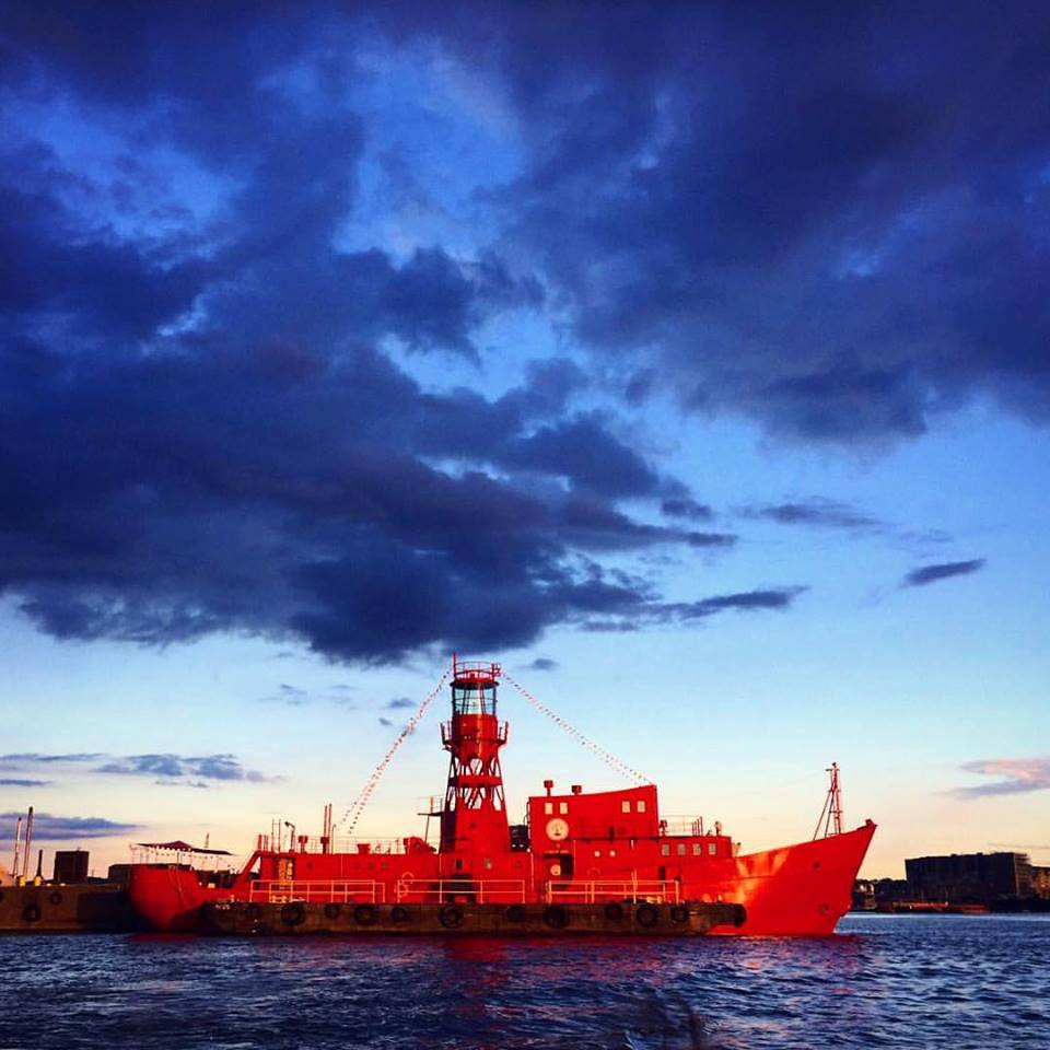 Lightship 95 on the river