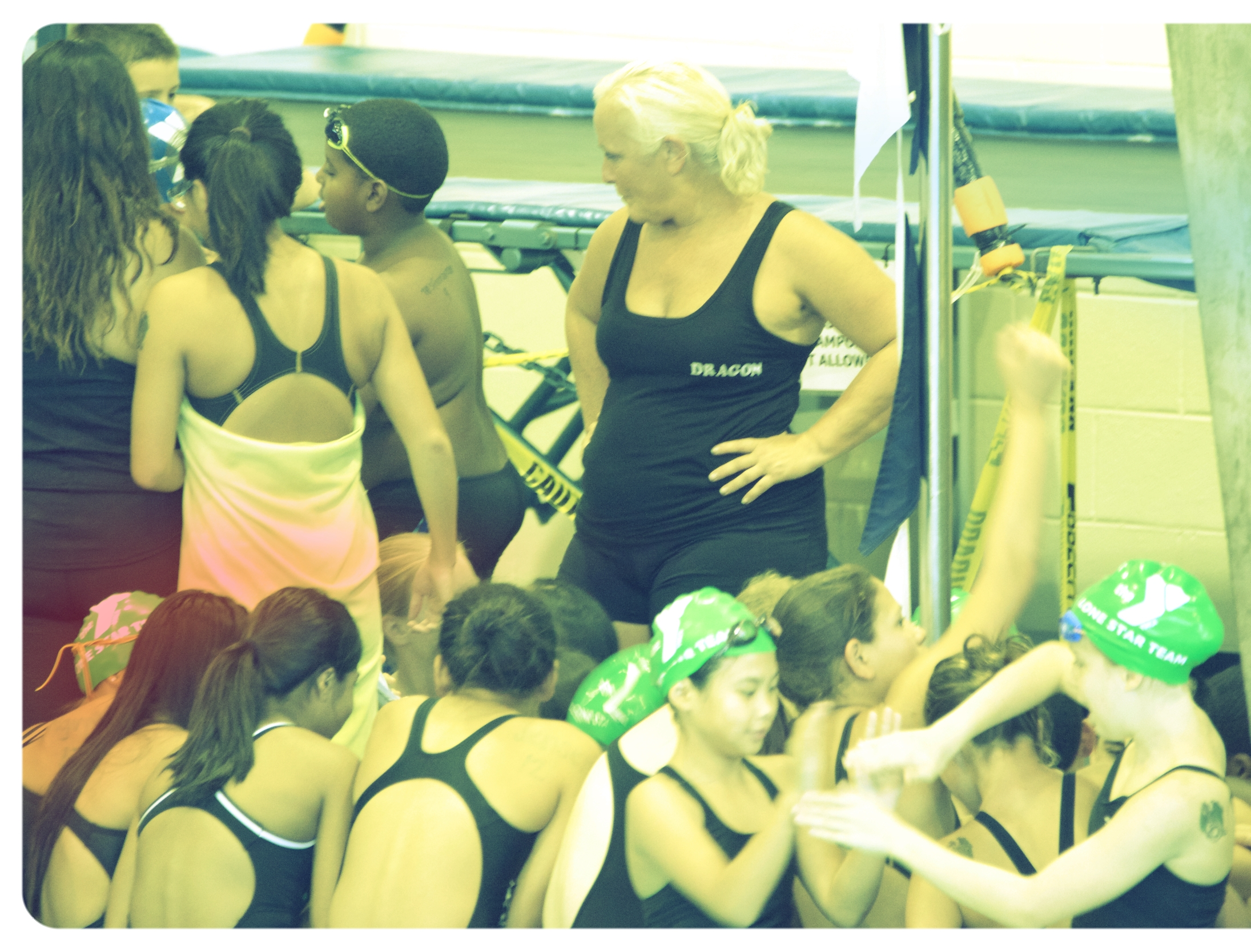 Coach Laura with her State Champion Swim Team (Aug 2015)