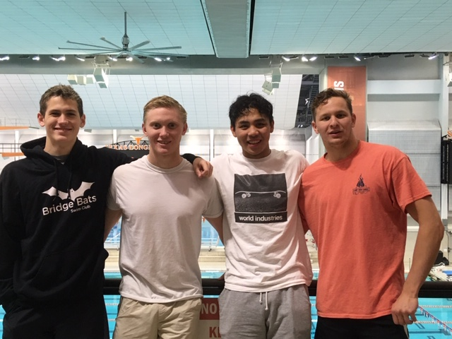 BATS has its first relay to qualify for Summer Junior Nationals. This 4x100 Free Relay took 2nd at Sectionals  Jake 54.31 Briggs 51.72 Jordan 54.16 Jack 50.69 Watch it  here   July2019