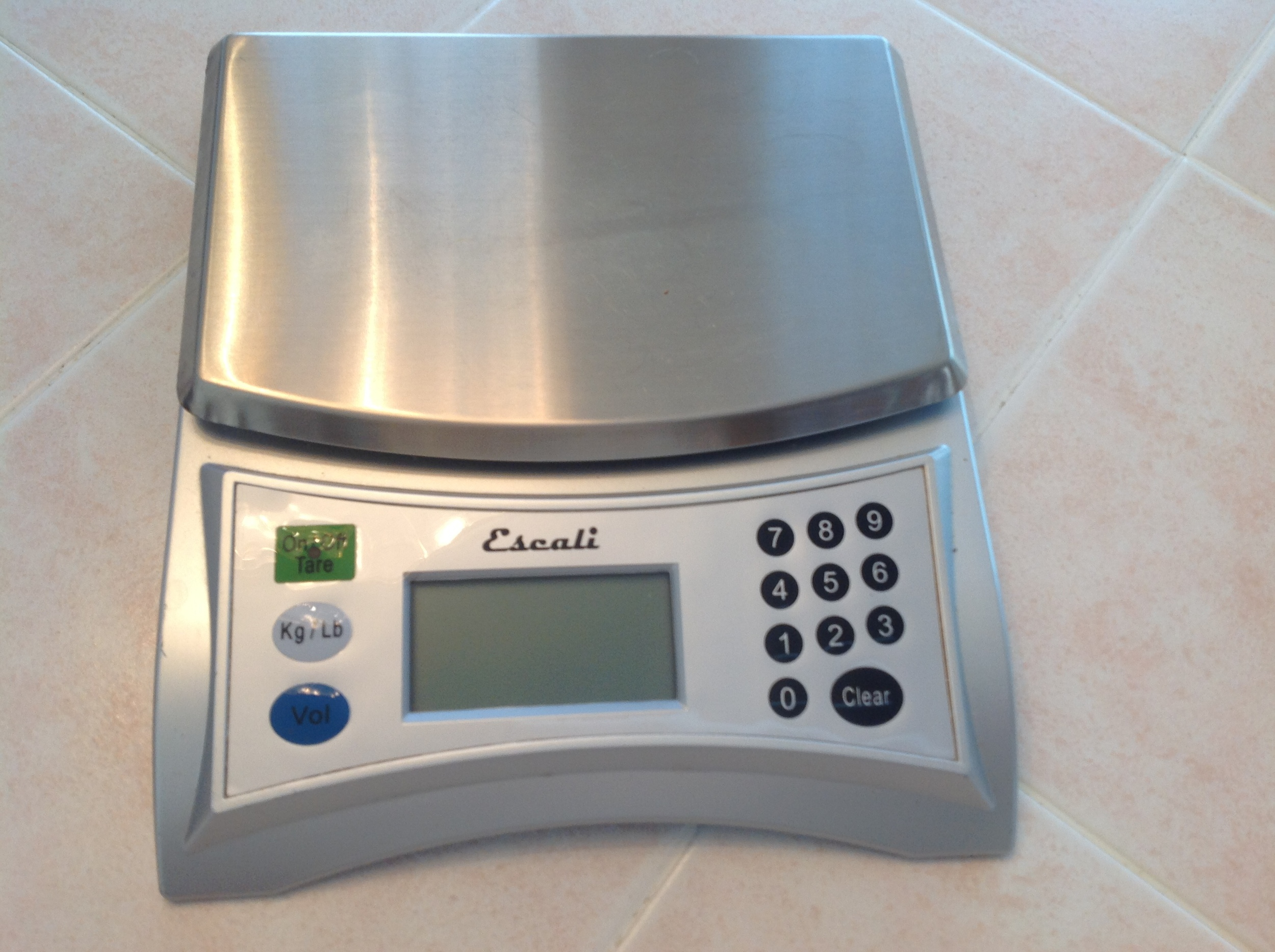 Food scale - one of my essential baking tools