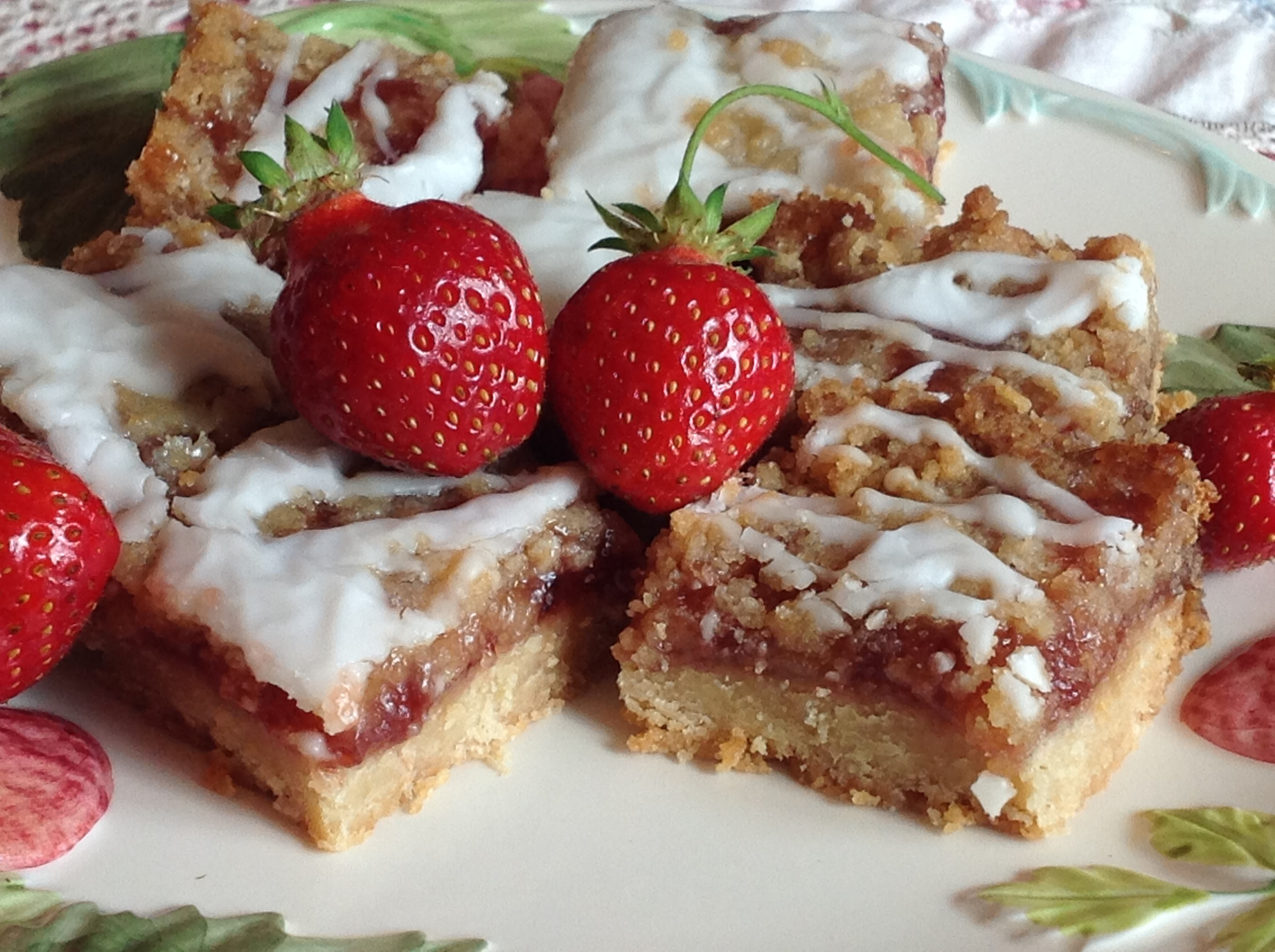 Strawberry Marzipan Bars