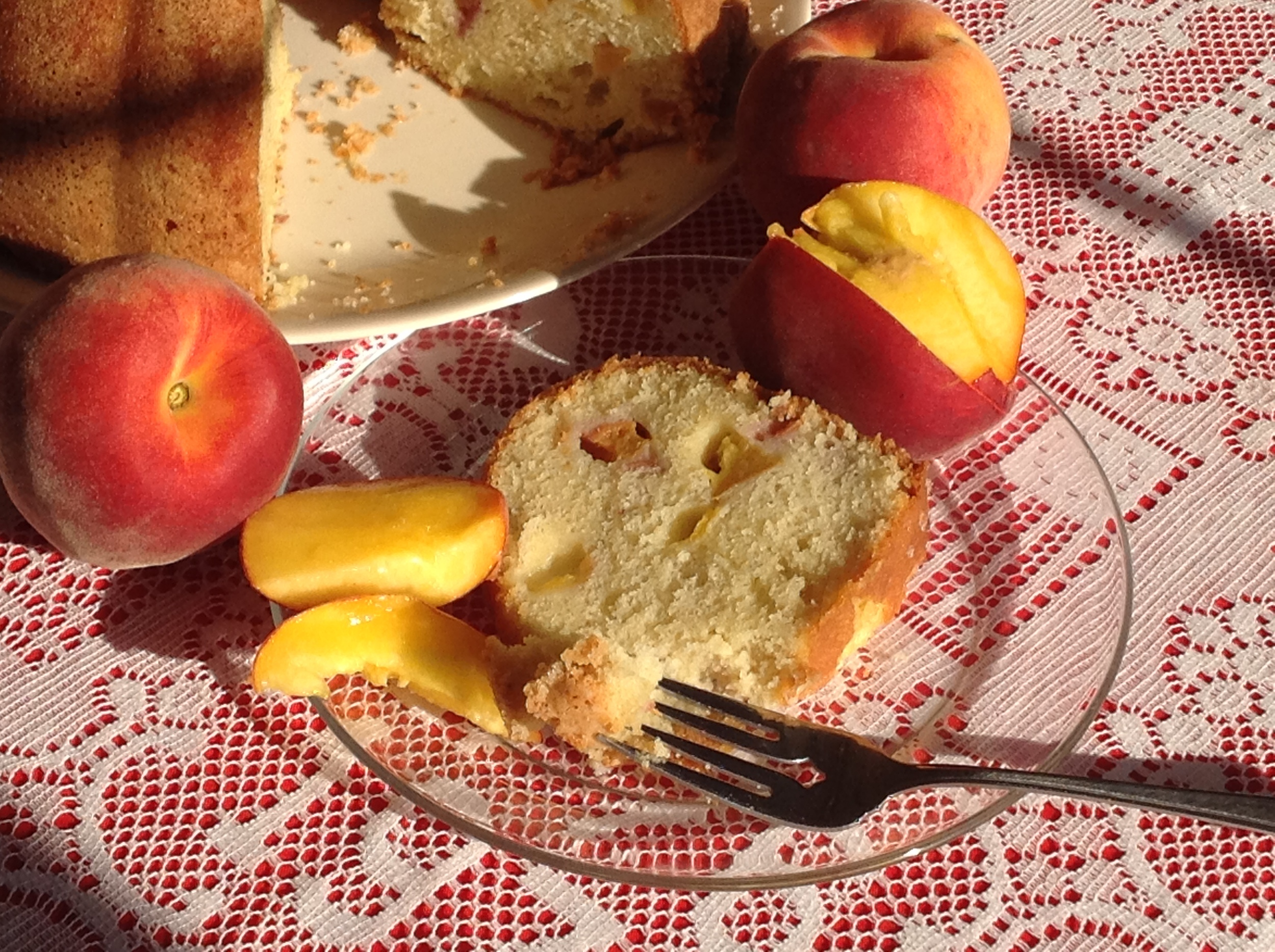 Fresh Peach Pound Cake - yum!