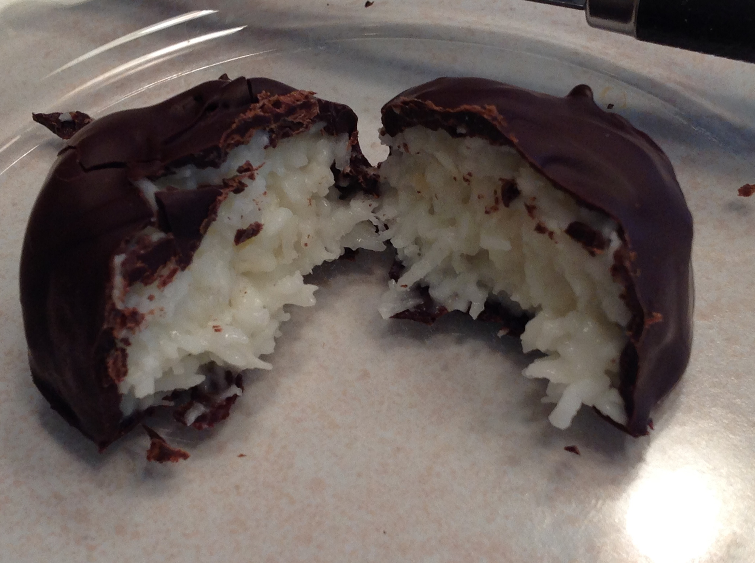 Coconut Candies with Bittersweet Chocolate
