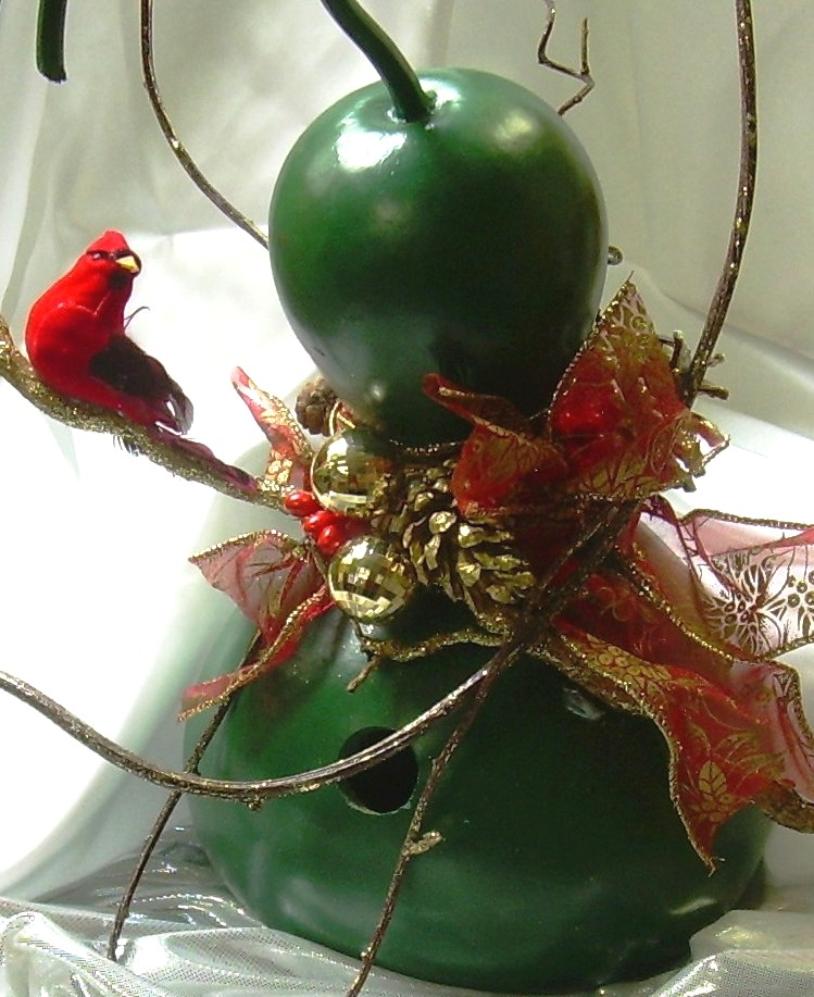 full-size birdhouse gourd, holiday