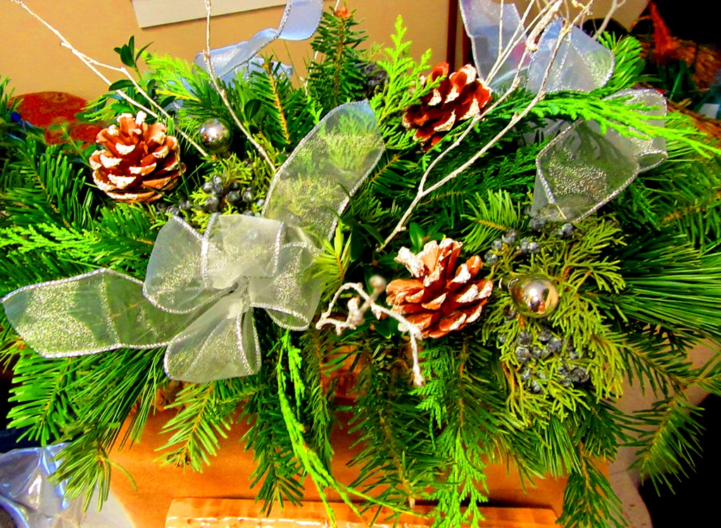 log basket centerpiece
