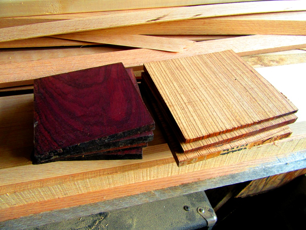 Rosewood and Zebrawood
