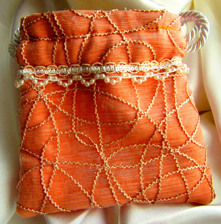 small bag with sheer layer