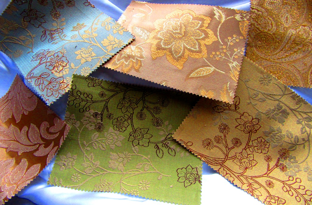 and beautiful brocades…. -