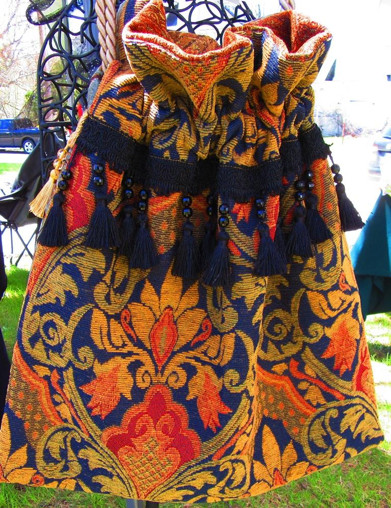 Carpetbagger Travel Tote with beaded tassel fringe