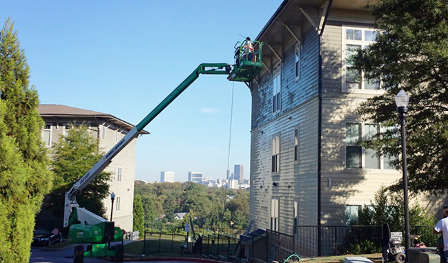 Hill Street Lofts Pressure Washing and Painting