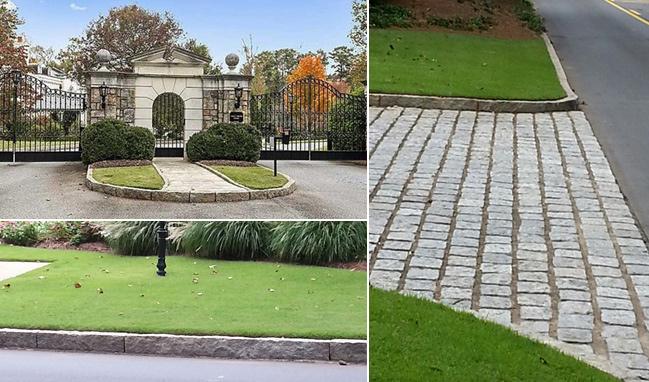 West Paces Park Granite Curbing