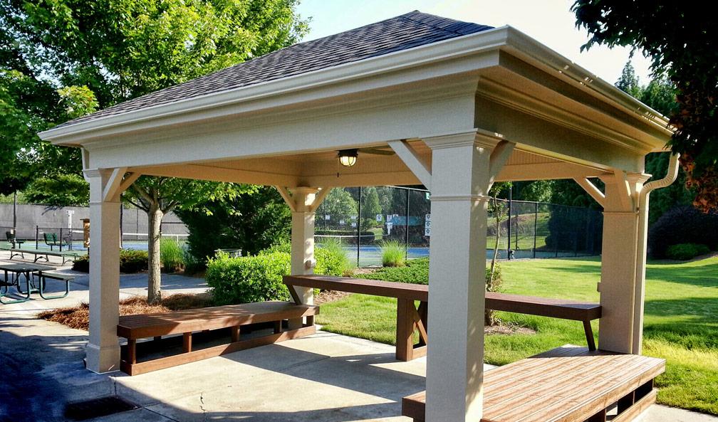 Hamilton Mill Tennis Pavilion & Benches