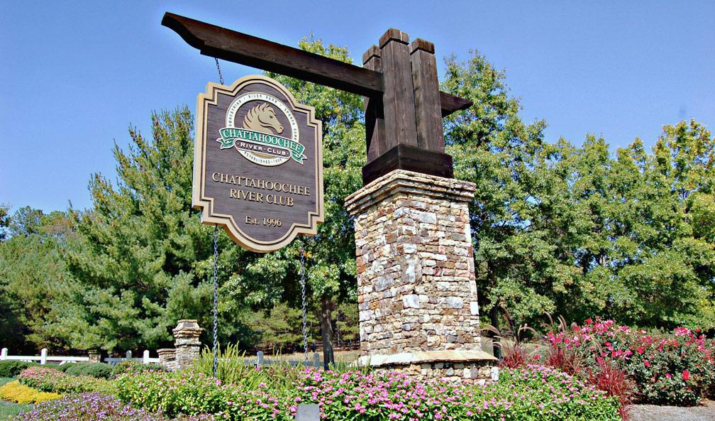 Chattahoochee River Club Sign Posts