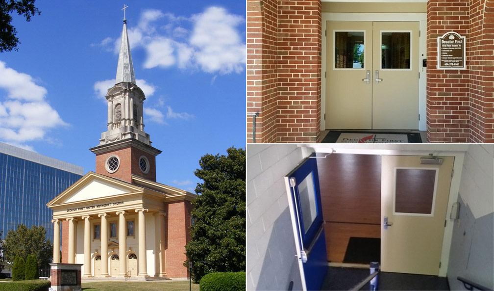 Decatur First Methodist Church Door Replacement