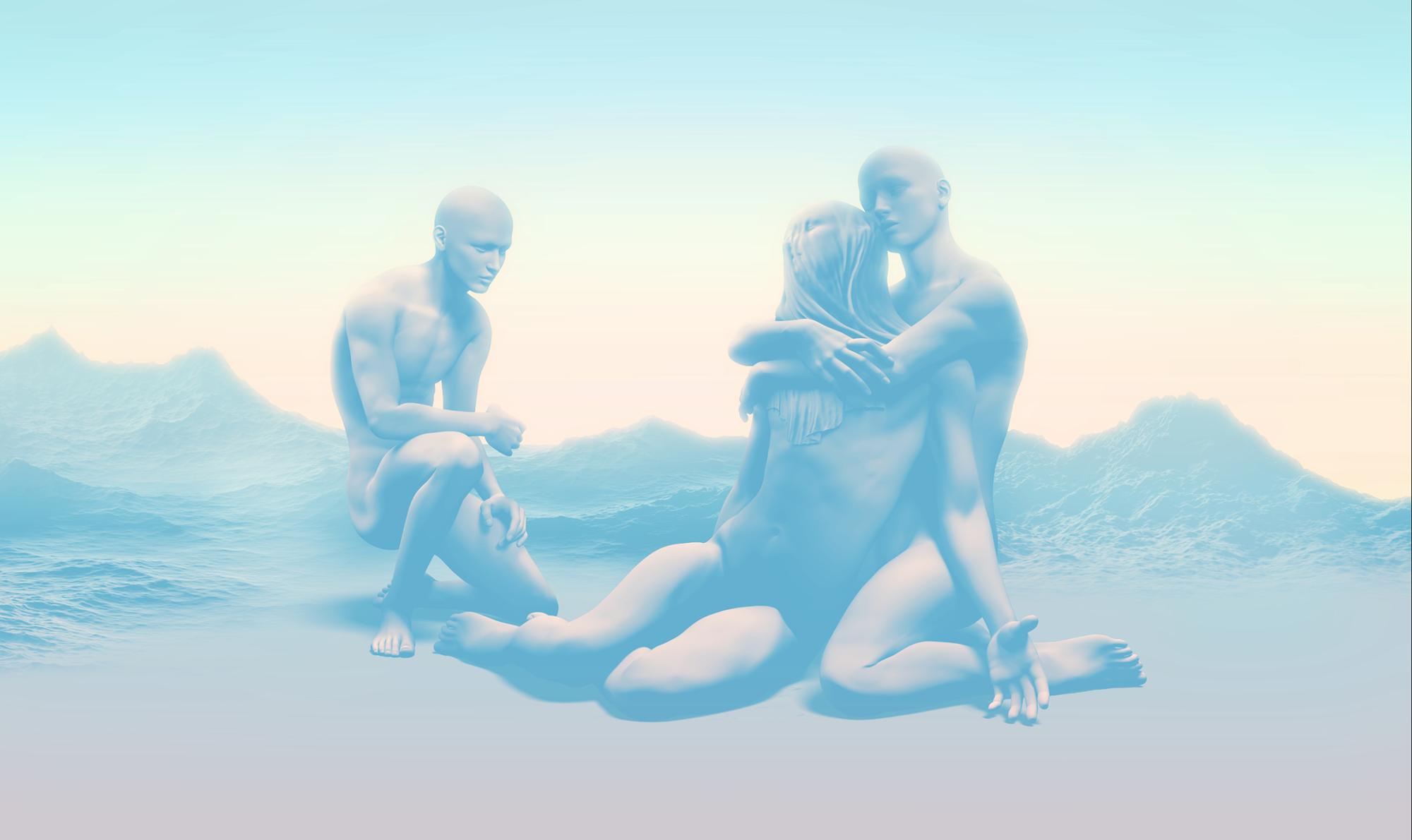 """Swoon  Framed inkjet print  23.5"""" x 40""""  2013 - 2015"""