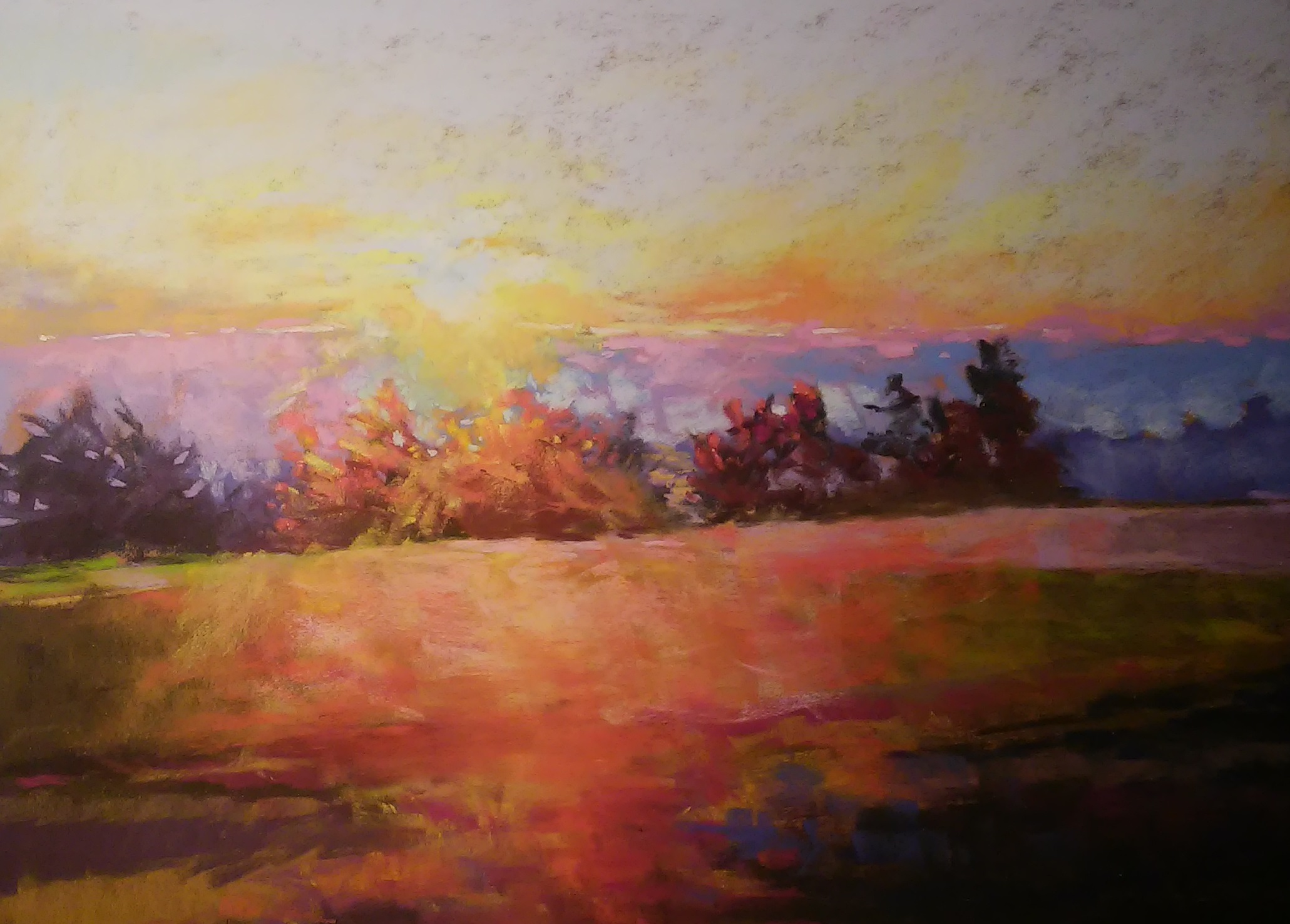 Sunset on Maple Grove 14x20 LaCarte paper  Available