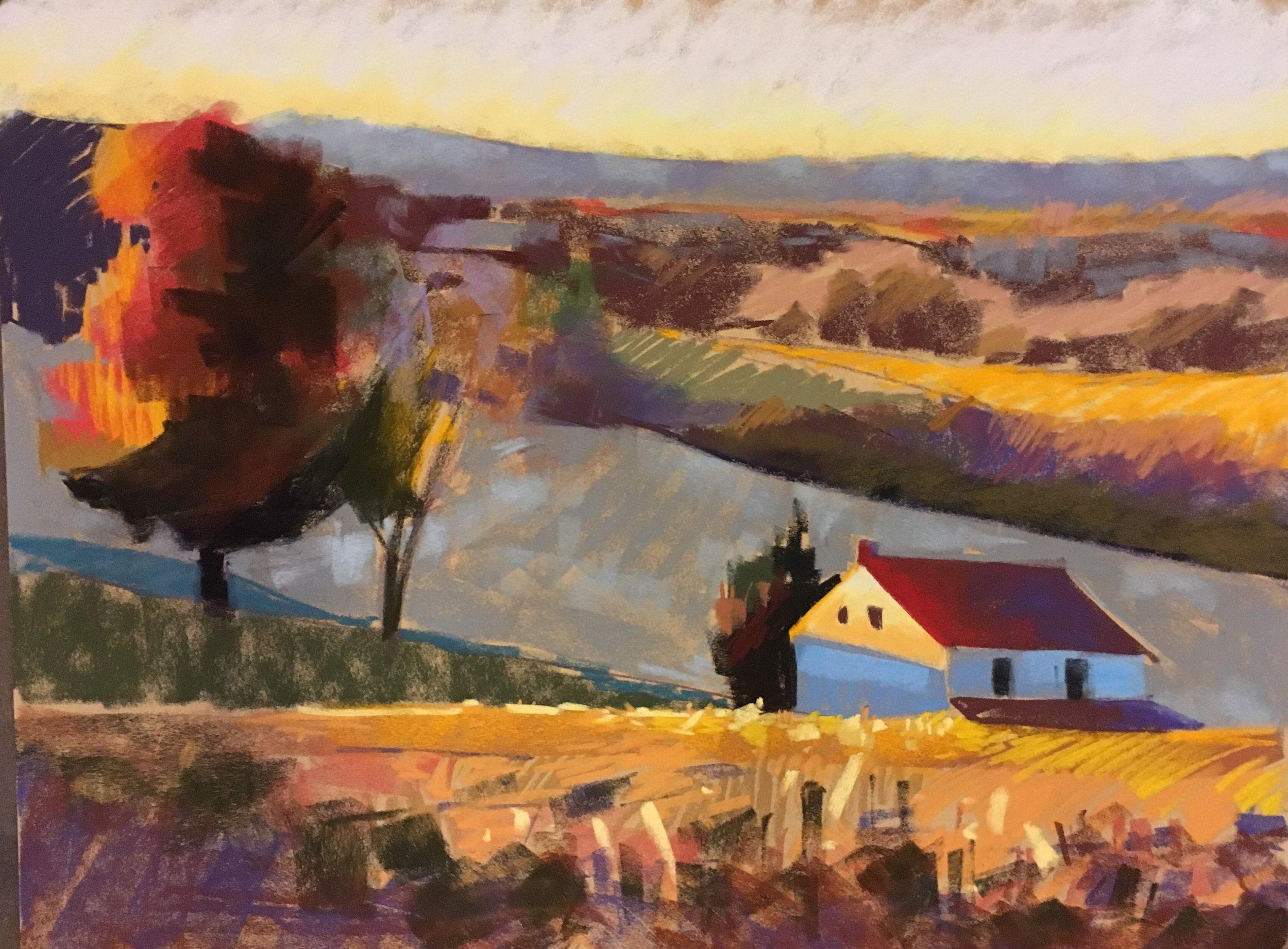 Houcksville Farm at Dusk 23x31 Available