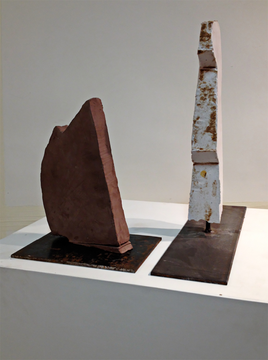 Untitled (left) Totem (right)