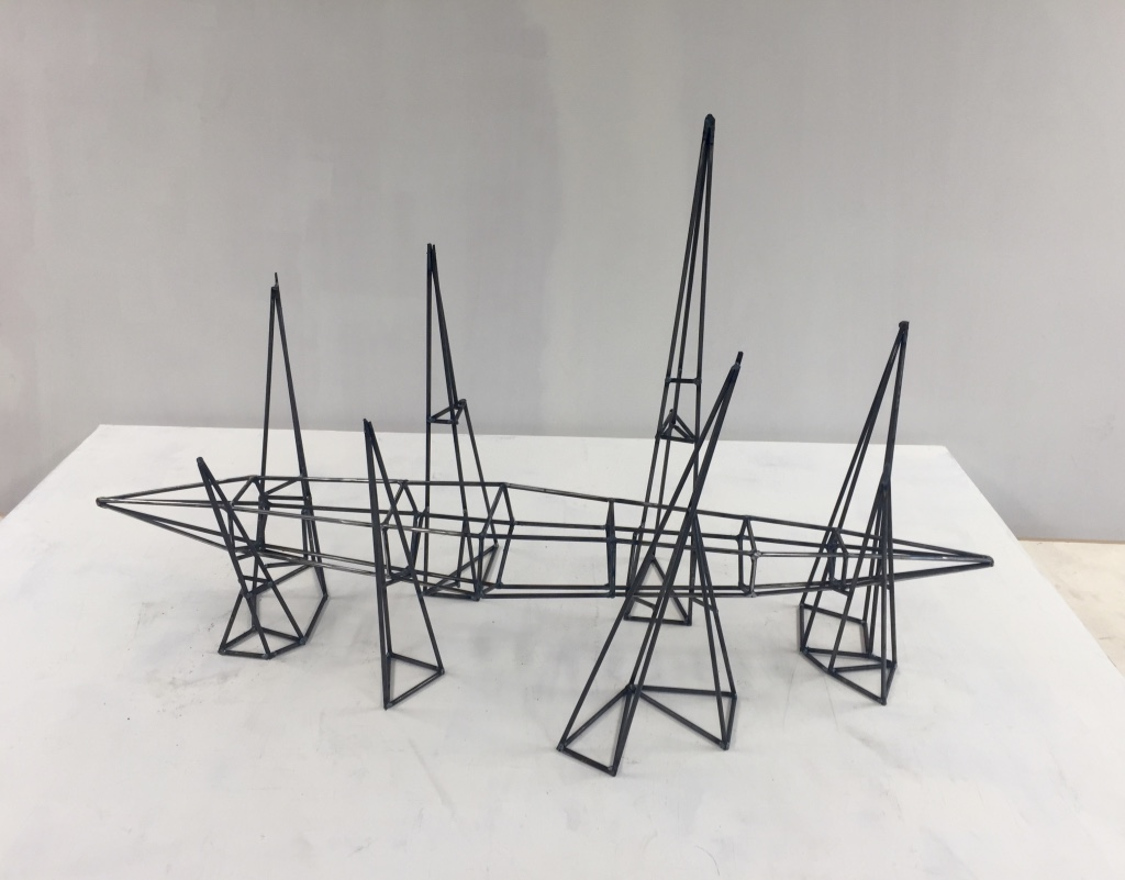 "Steel armature for ""Spike Cradle"""