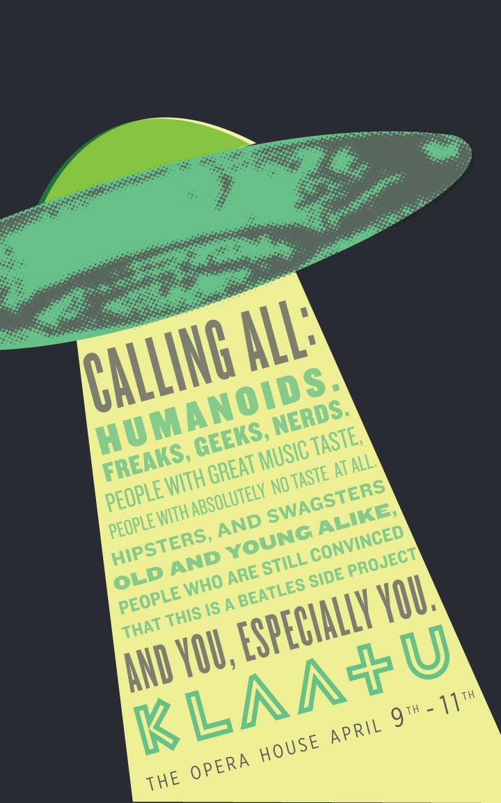 Klaatu Show Poster