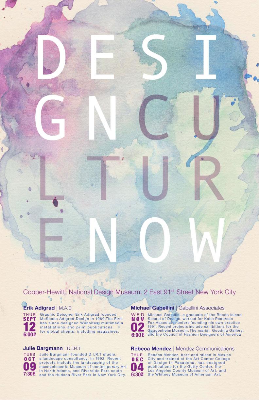 Design Culture Now poster