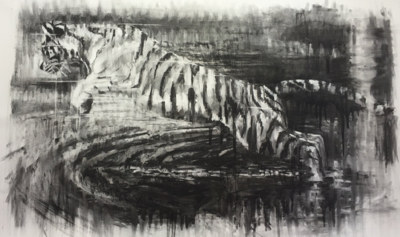 UNKNOWN TIGER *SOLD* Charcoal 860 x 1270mm