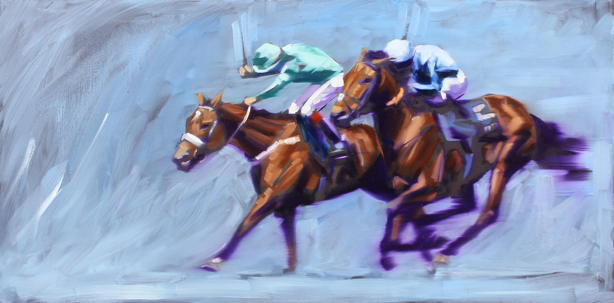 14.  Ascot heat (UK) , oil on canvas, 97x57cm, POA