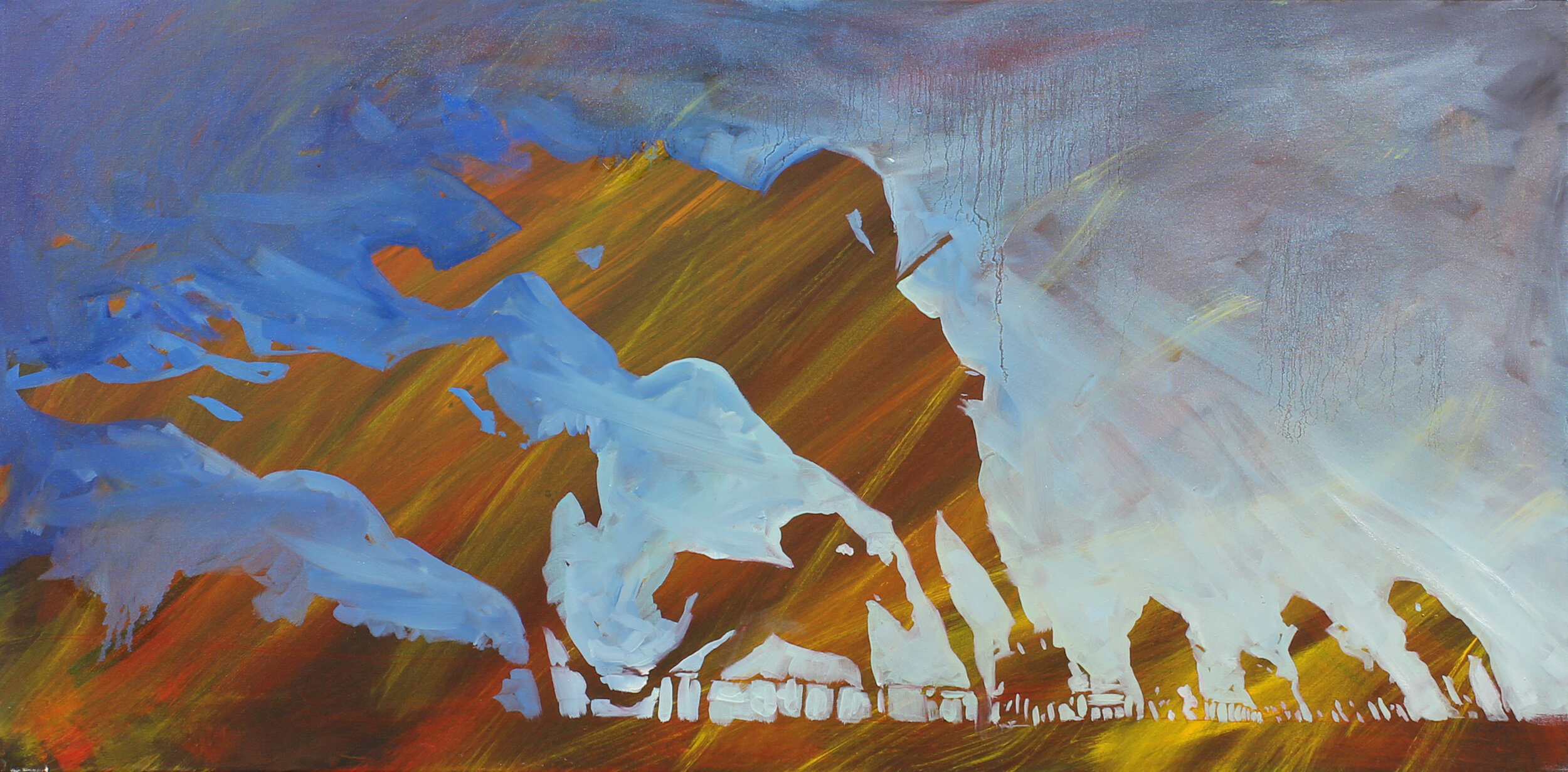 16.  Evening at Aintree (UK) , oil on canvas, 87x67cm, POA