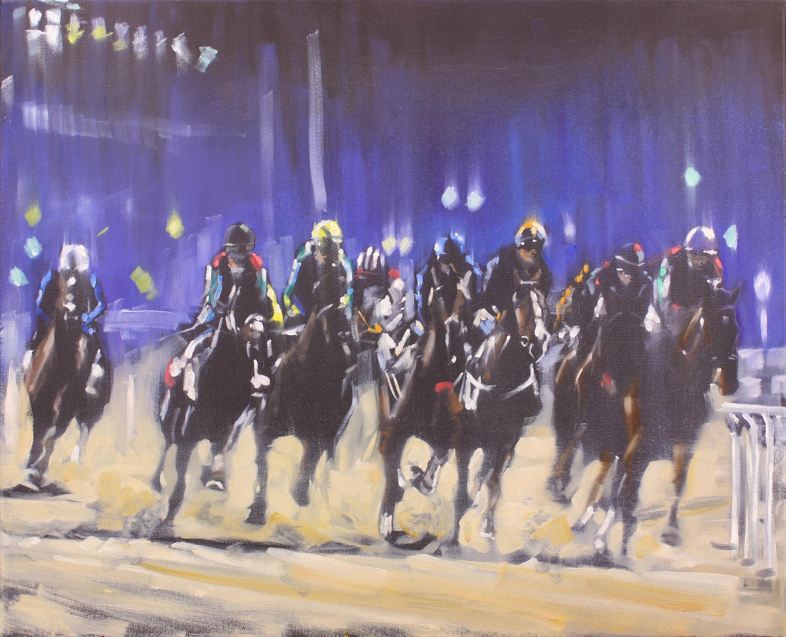 21.  Meydan nights (Dubai) , oil on canvas, 50x40cm, POA