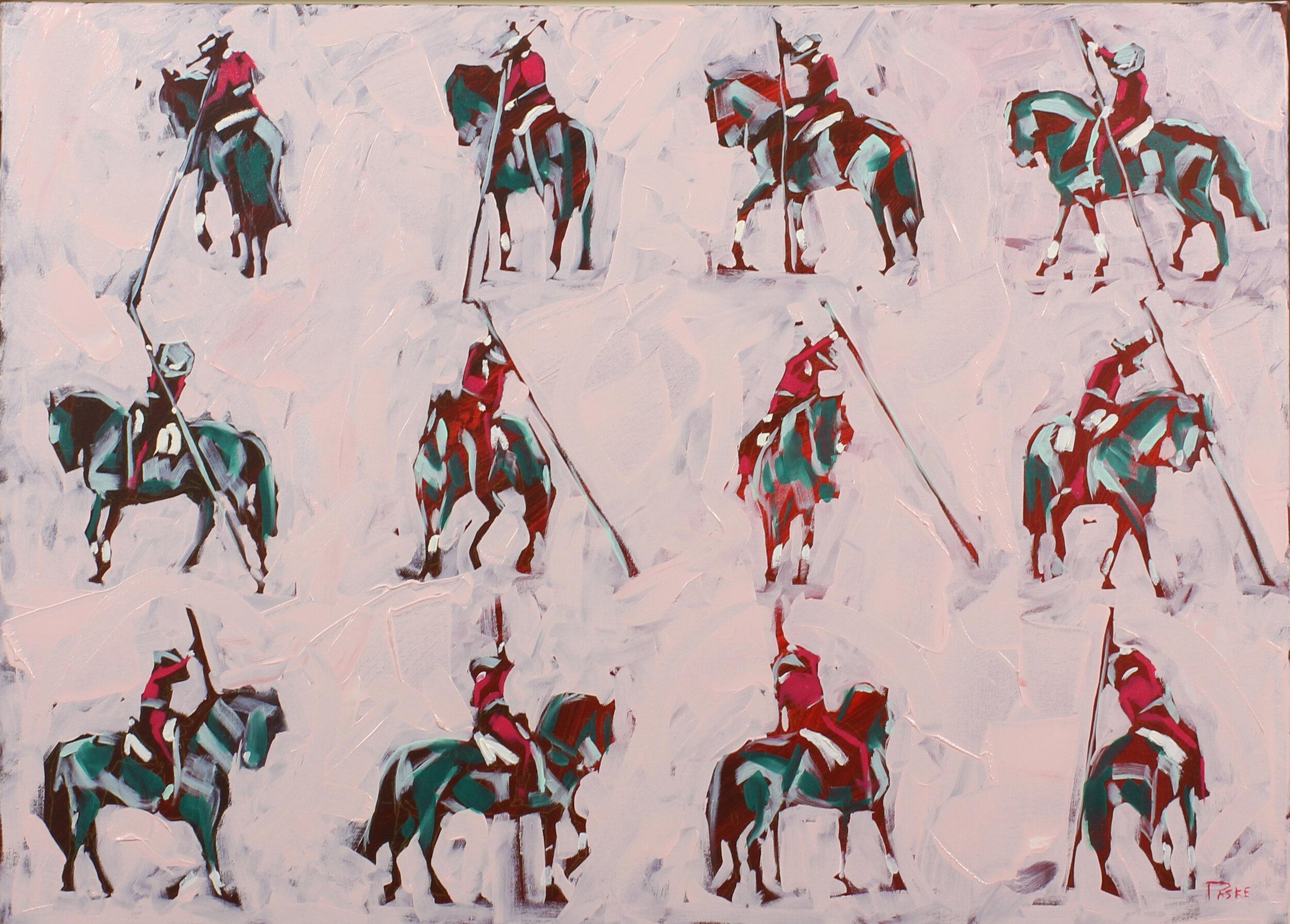 25.  Garrocha Turn (Andalusia) , oil on canvas, 87x67cm, POA