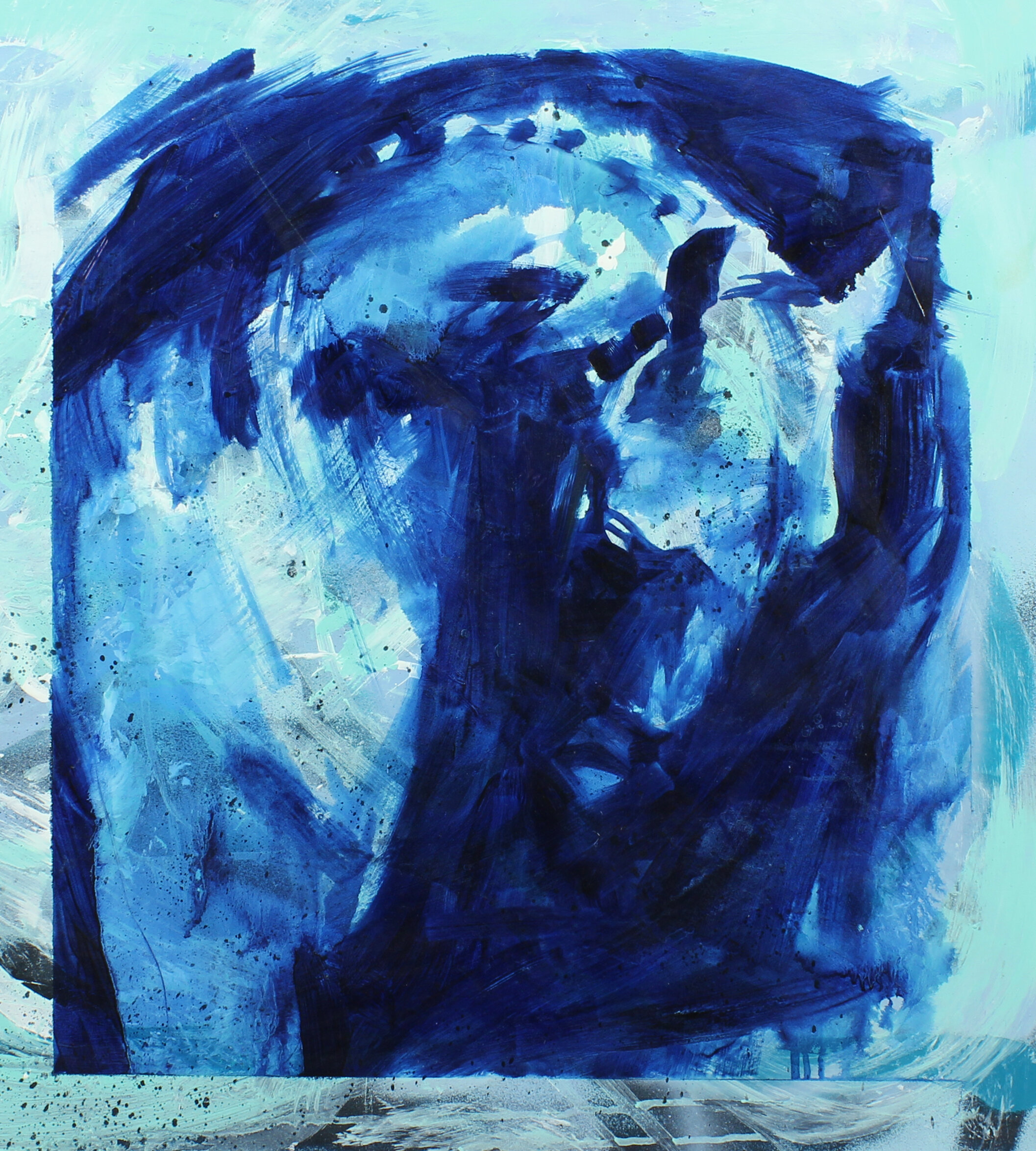 28.  Into the blue (Ancient Greece) , oil on canvas, 76x77cm, POA
