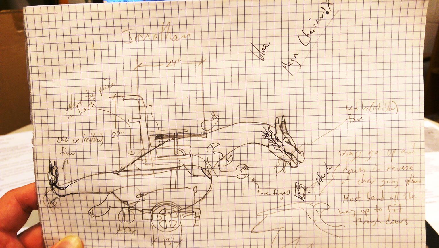 Pokémon Charizard begins on paper...