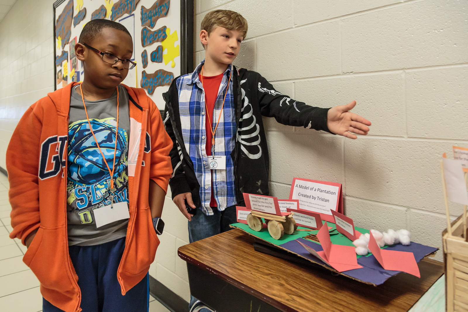 The students recreated tools used by slaves, built a replica of slave quarters, and a created a learning game to show the items slaves invented to improve their daily lives and to accomplish tasks more efficiently.
