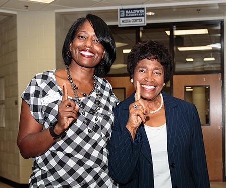 Beauty Baldwin  (right)
