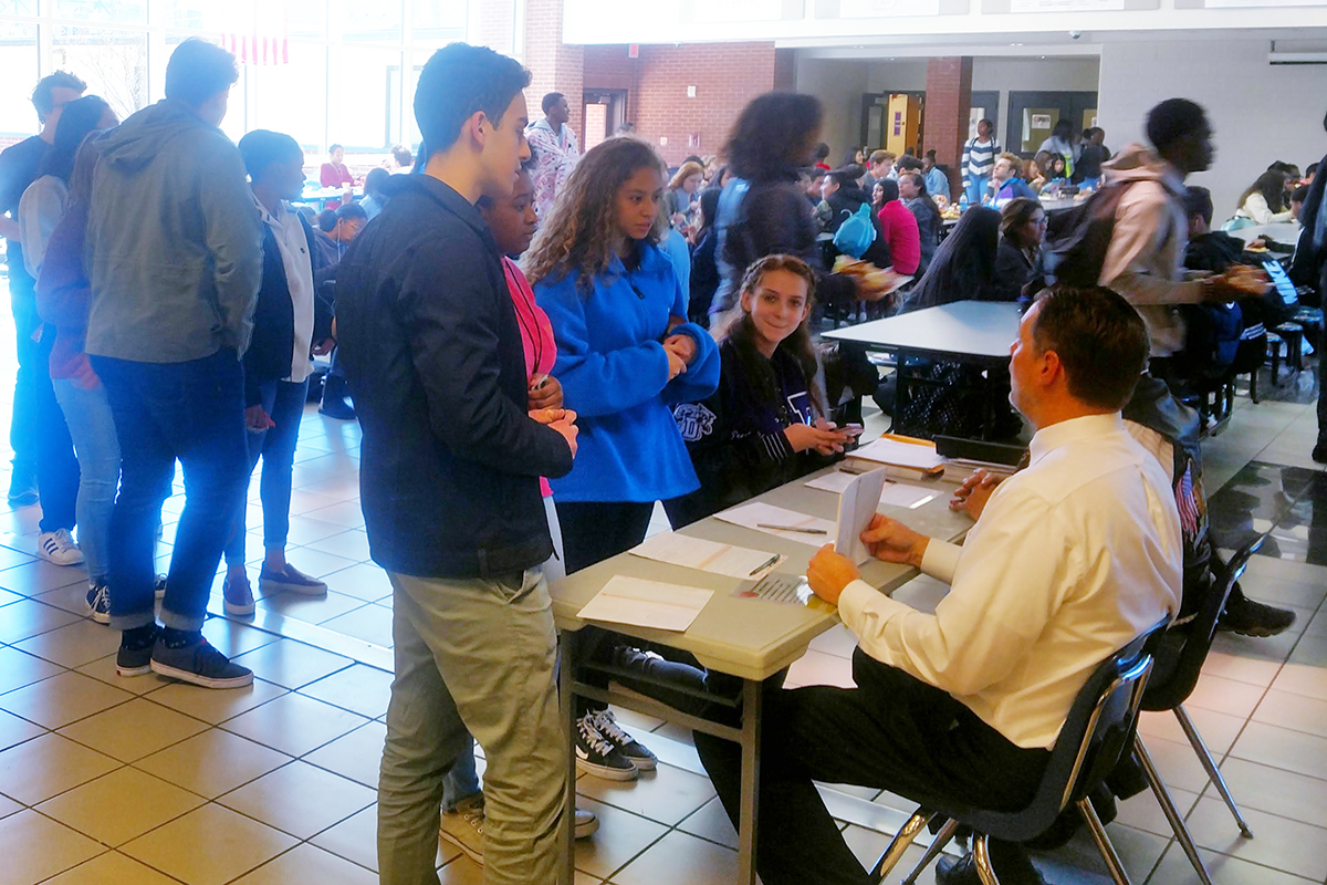 During a recent registration drive, more than 100 Duluth HS students registered to vote, including these students who registered during their lunch.