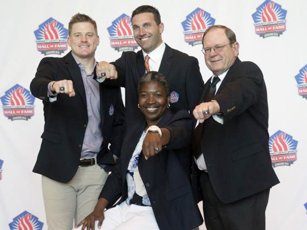 Gwinnett County Sports Hall of Fame Class of 2018  (Back Row L-R): Jeff Francoeur (Baseball) Parkview, James Mason (Golf) Duluth (Front Row L-R): Drew Butler (Football) Peachtree Ridge, Joyce Pierce (Basketball) Norcross Not pictured: Michelle Green (Softball) Duluth