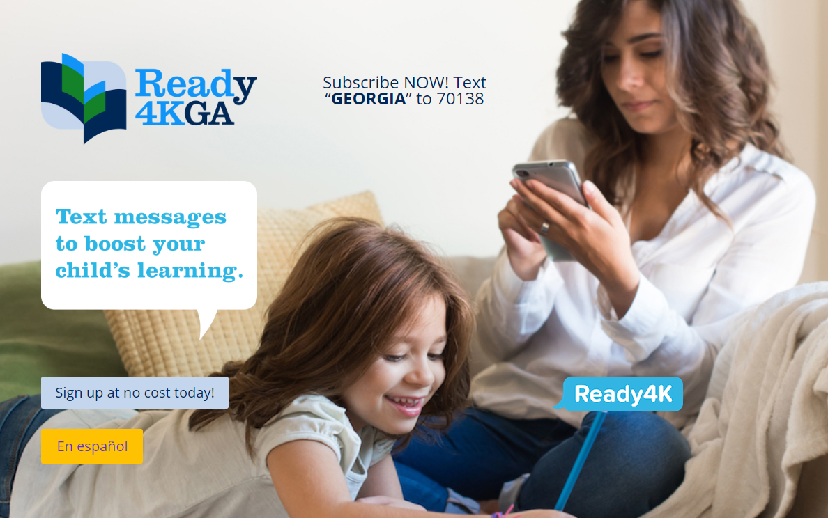 Ready 4KGA, text messages to boost your child's learning