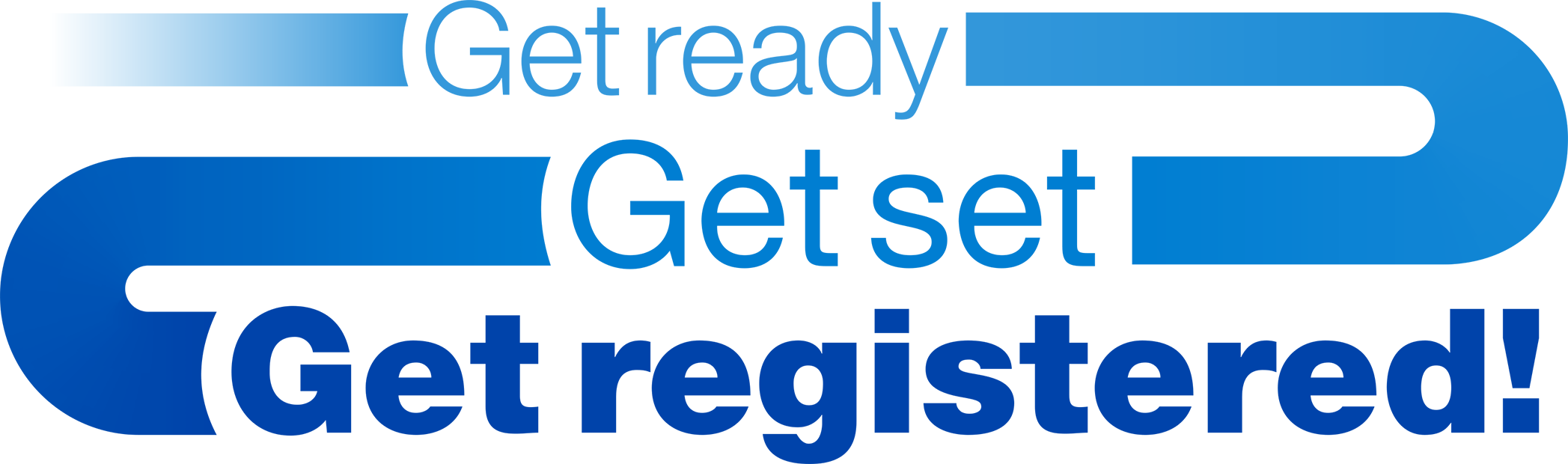 Get ready, get set, get registered