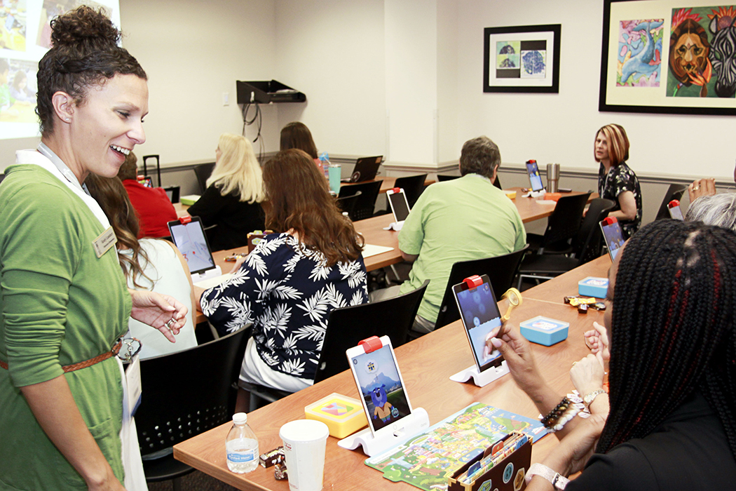 Teachers at Digital Learning Conference