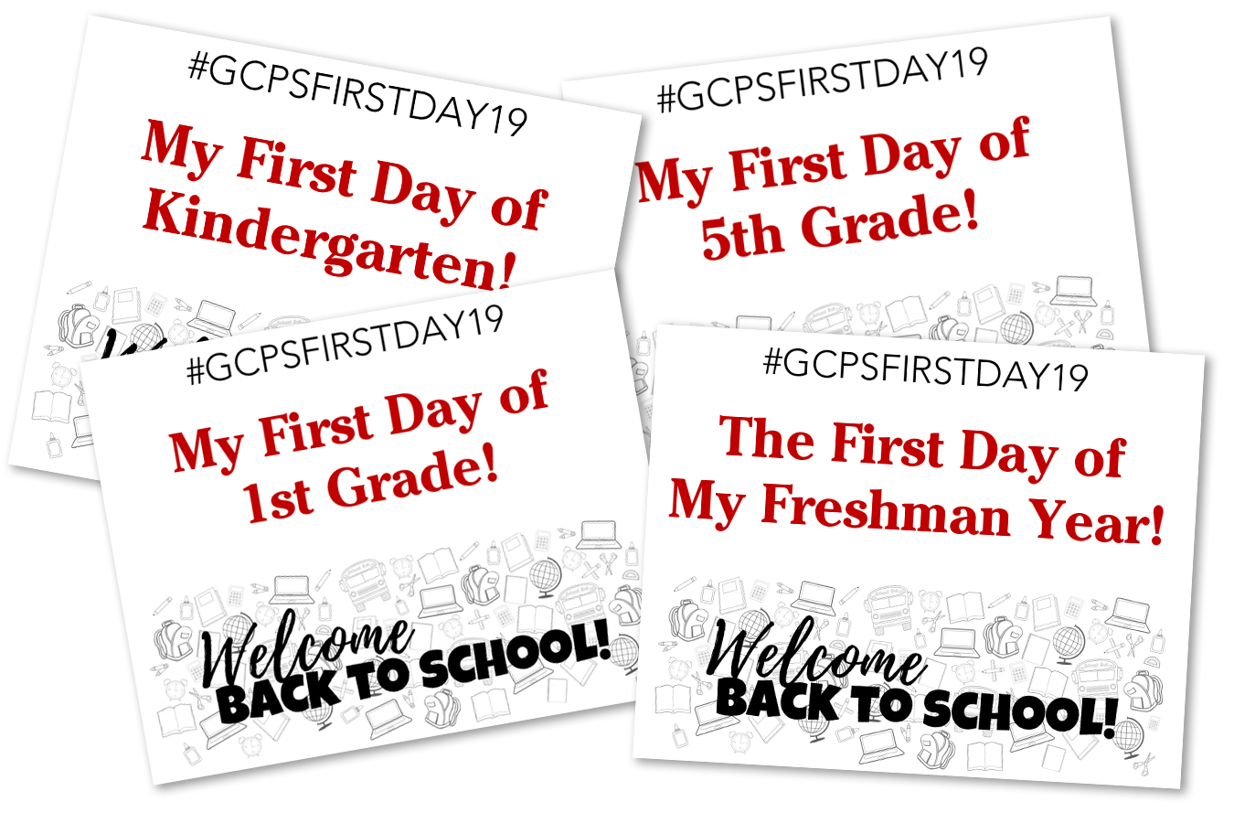 My First Day of School Signs
