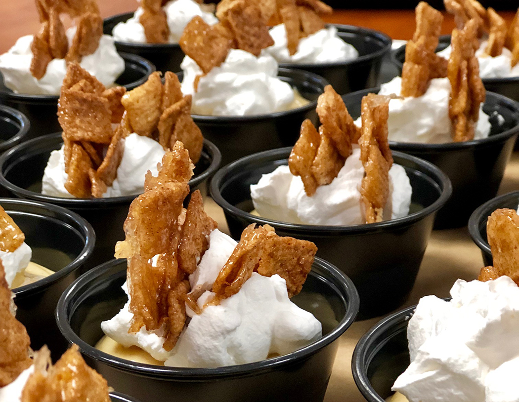 Cereal with Pudding